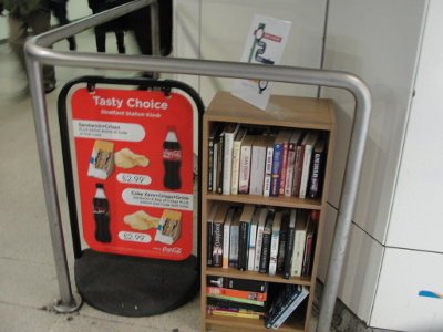 Our new book swap in Stratford Station!