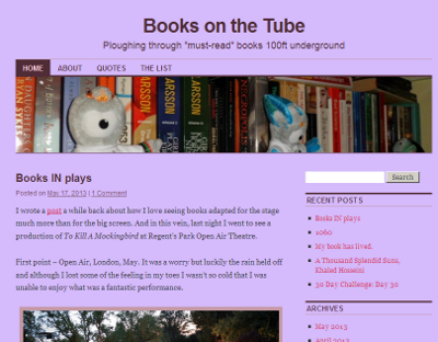 Books on the Tube screenshot